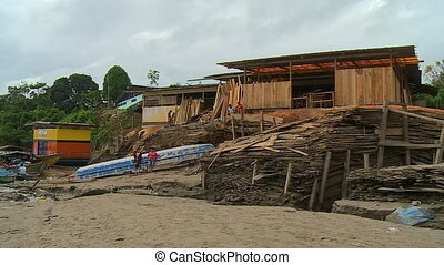 Partially Built Houses on Beach
