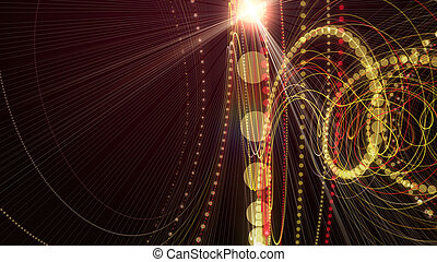 particella, illustrazione, luci, disegno, fondo, futuristico