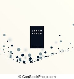 particelle, bianco, sfondo nero, fluente