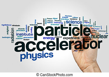 Particle accelerator word cloud concept