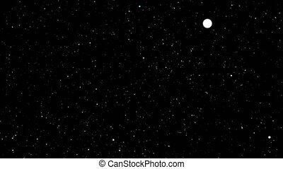 particle ball  blue and white color random moving on the black screen