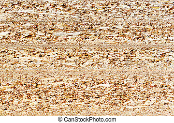 Particle board cross section texture - Close up cross...