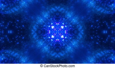 Particle chaos in blue hues VJ abstract animated looping...