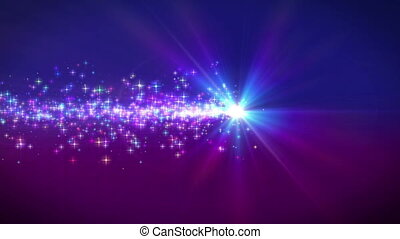 particle dust line stars ray light motion