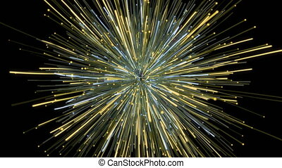 Particle explosion cloud. - Particle explosion cloud with...