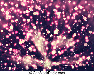 Particle explosion - Illustration of light particle...