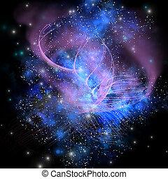 A spacial phenomenon in the cosmos.