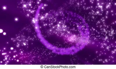 Particle Magic in Purple Loop