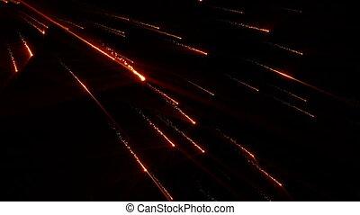 Particle Rain Comet Star