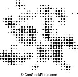 Particle Swarm Halftone Dotted Icon