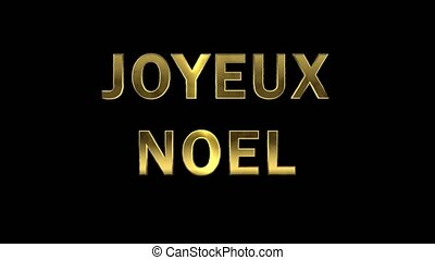 Particles collecting in the golden letters - Joyeux Noel -...