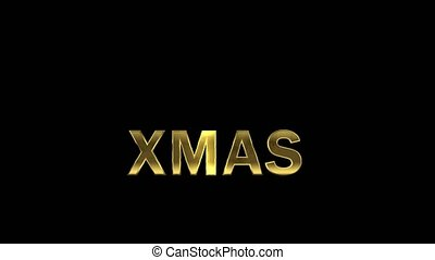 Particles collecting in the golden letters - Xmas -...