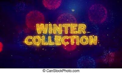 particles., collection, texte, hiver, explosion, coloré, ftirework