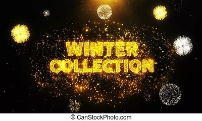 particles., collection, texte, hiver, exposer, feud'artifice, explosion