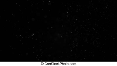 Particles Dust Cloud Isolated Black Background.