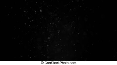 Particles Dust Cloud Isolated Black Background. - Real...