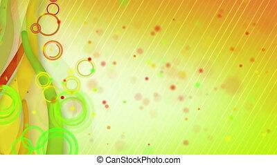 particles lines orange green loop