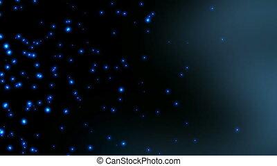 particles - Blue particles background videos