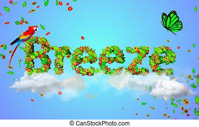 particles, zöld, szellő, 3