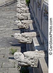 particolare architettonico, di, il, pagoda cinese