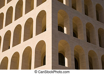 Particular of a building tipycal of Metaphysic architecture ...