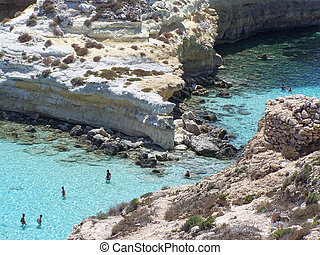 particular of island of rabbits. Lampedusa- Sicily
