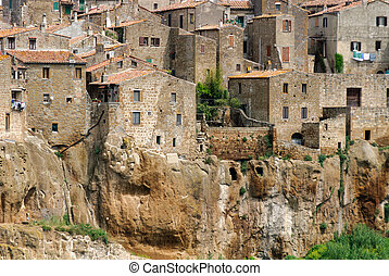 particularly the village of Pitigliano in Tuscany