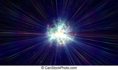 particule, atome, couleur, énergie, balle, 4k