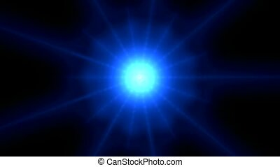 particule, bleu, rayon, sous-marin, light.