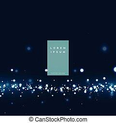 particule, lumière, résumé, effet, incandescent, fond