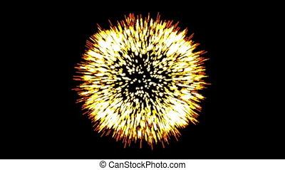 particules, embers., incandescent, scintillement, éclat