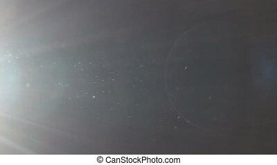 particules, en mouvement, arrière-plan noir, barbouillage