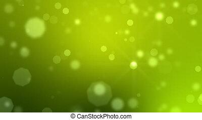 particules, en mouvement, vert, boucle, hd.