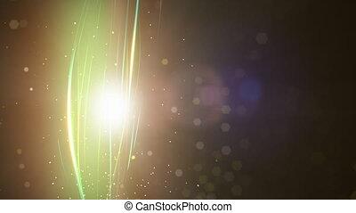 particules, instruments à cordes, boucle
