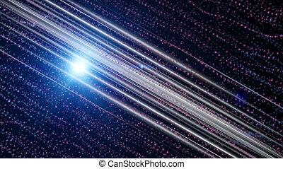 particules, lent, 4096x2304, lumière, mouvement, animation, vidéo, futuriste, raies, boucle, 4k
