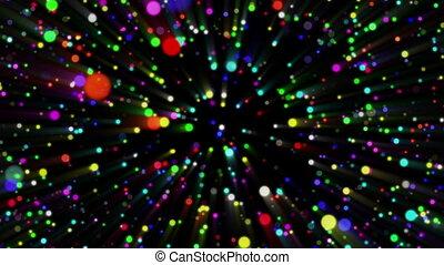 particules, résumé, coloré, boucle, fond