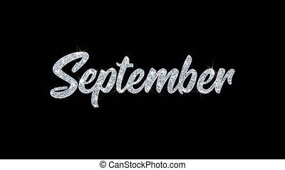 particules, septembre, texte, clignotant, invitation,...