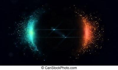 particules, sphère, clair