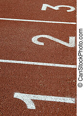 partida, pista, atleta