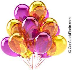 partido aniversário, balões, decoração