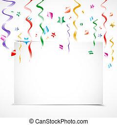 partido aniversário, convite, cartão