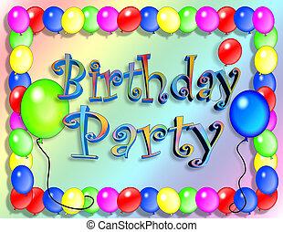partido, aniversário, convite