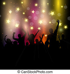 partido, audiência, fundo, estrelado