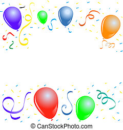 partido, balões, borda