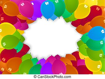 partido, balões, coloridos, fundo