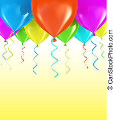 partido, balões, fundo, 3d