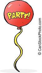 partido, balloon, caricatura