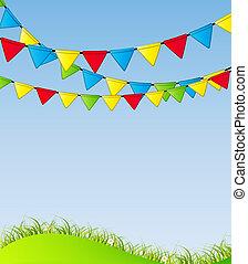 partido, bandeira, vetorial, fundo, ilustração