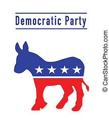 partido, burro, democrático
