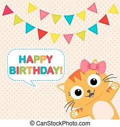 partido, cartão aniversário